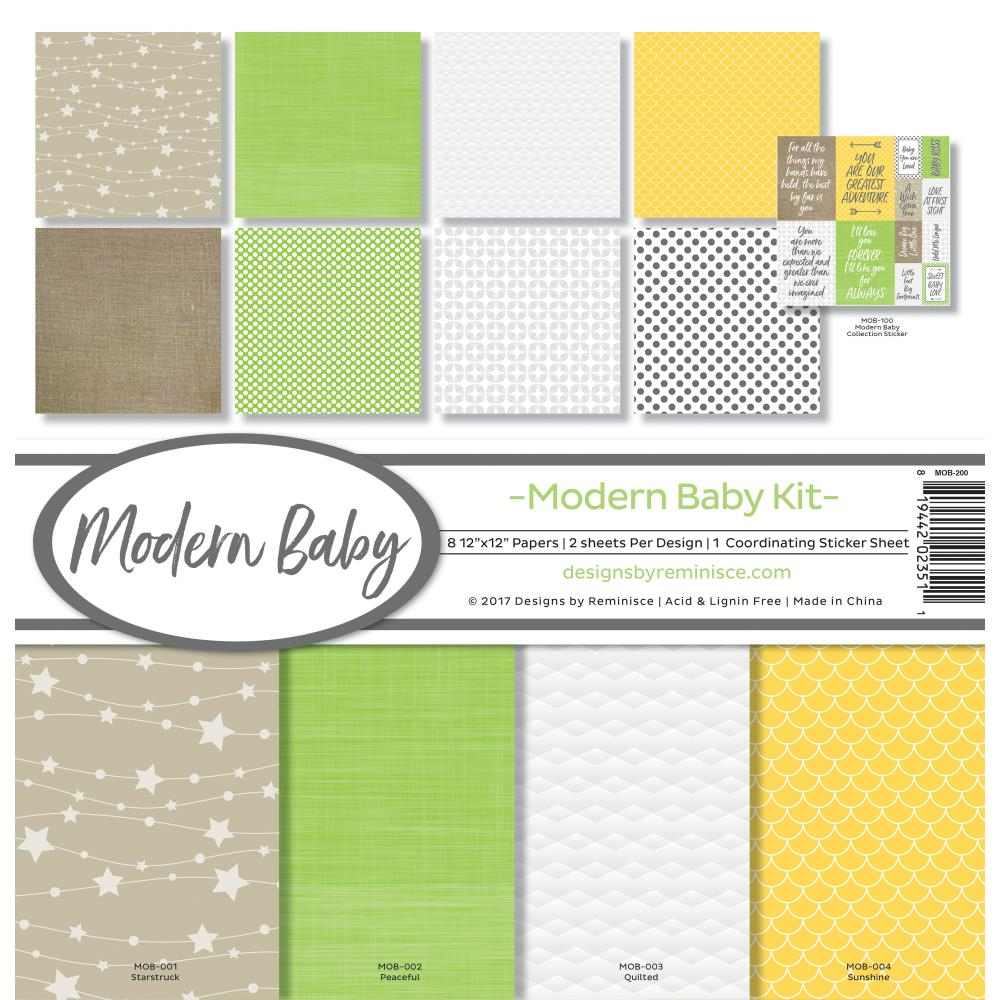 Reminisce Modern Baby Kit 12 x 12 Paper Pack