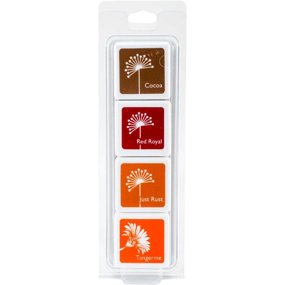 Hero Arts Dye Ink Cubes 4/Pkg - Autumn Trees - Scrap of Paradise