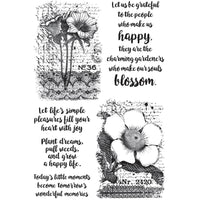 "Botanical Script Darkroom Door rubber stamp 7.25"" x 5"""