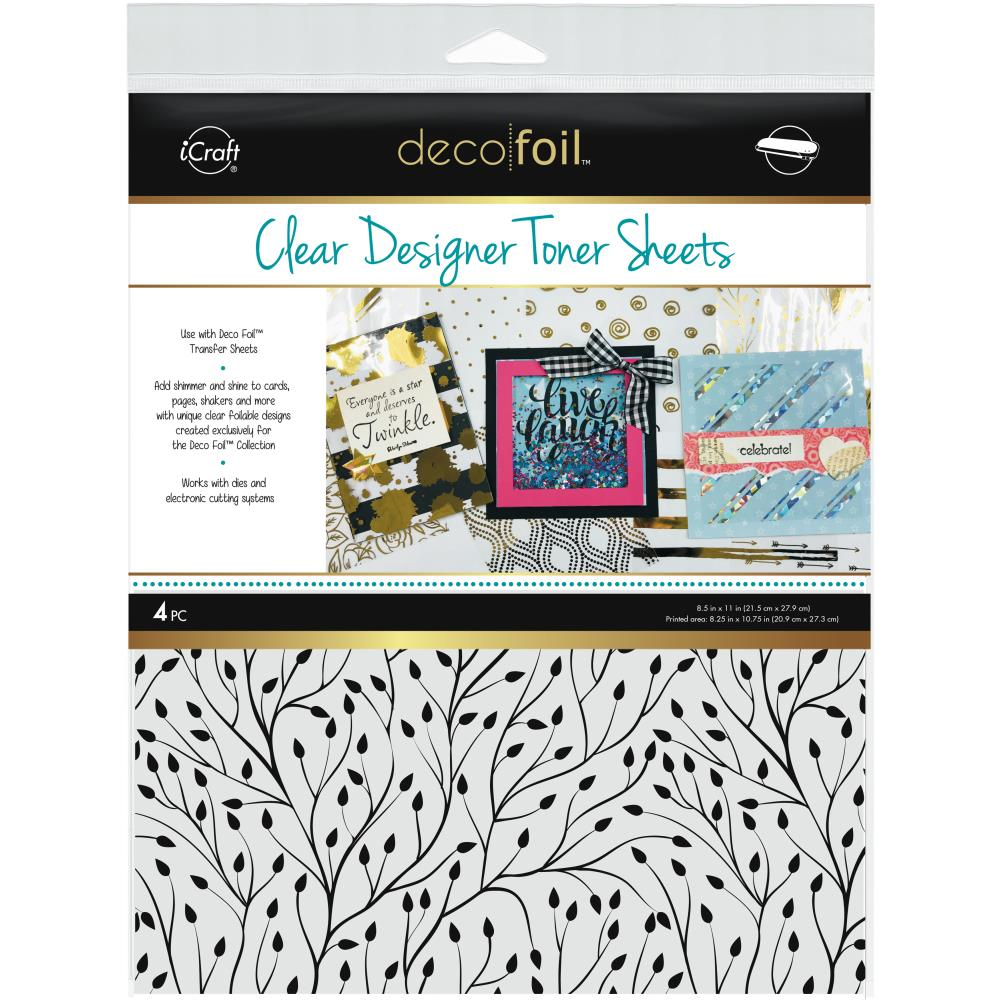 "Deco Foil Clear Toner Sheets 8.5""X11"" 4/Pkg Branching Out"