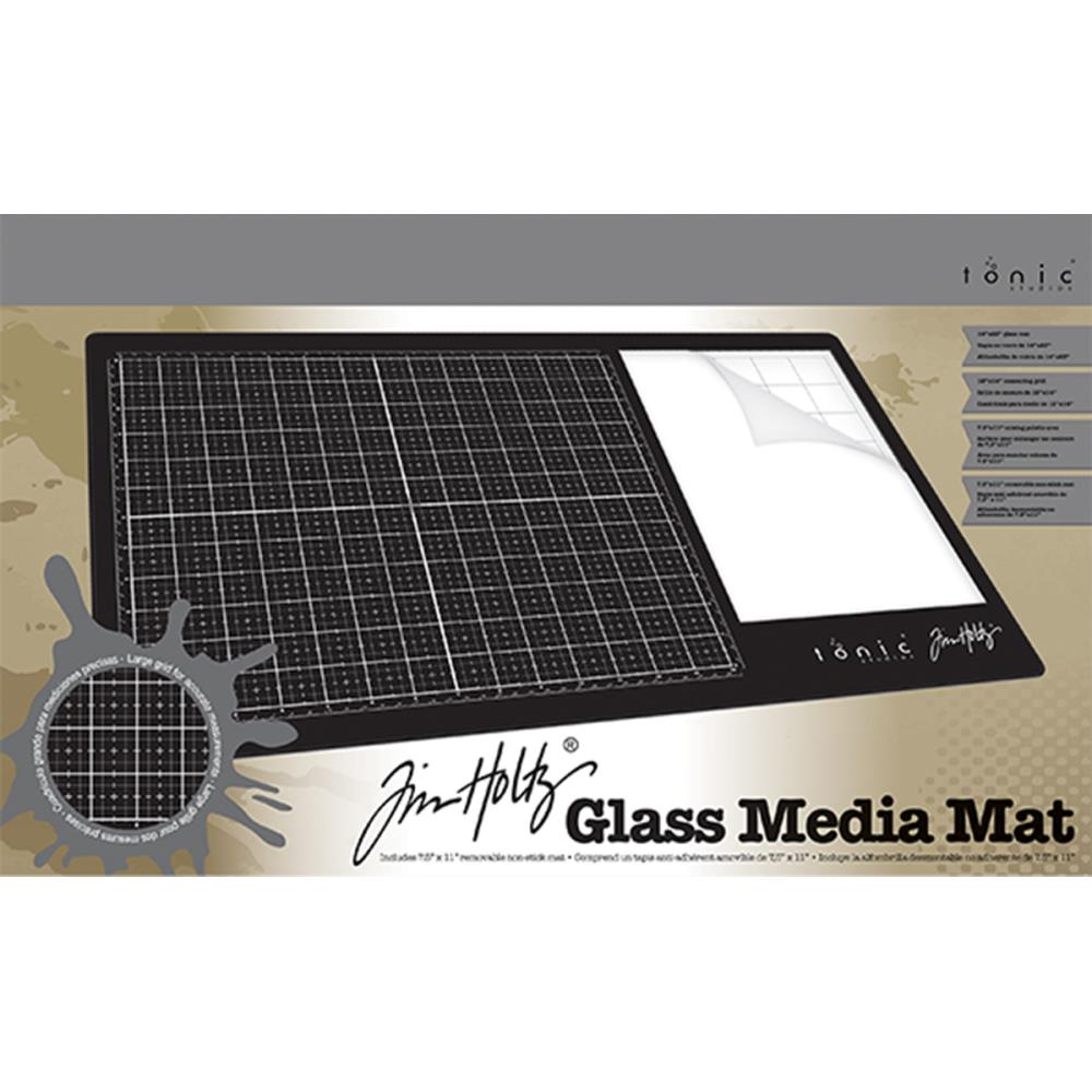 "Tim Holtz Glass Media Mat 23.75""X14.25"" - Scrap of Paradise"