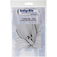 "IndigoBlu Cling Mounted Stamp 5""X4"" Colour Me Lily"