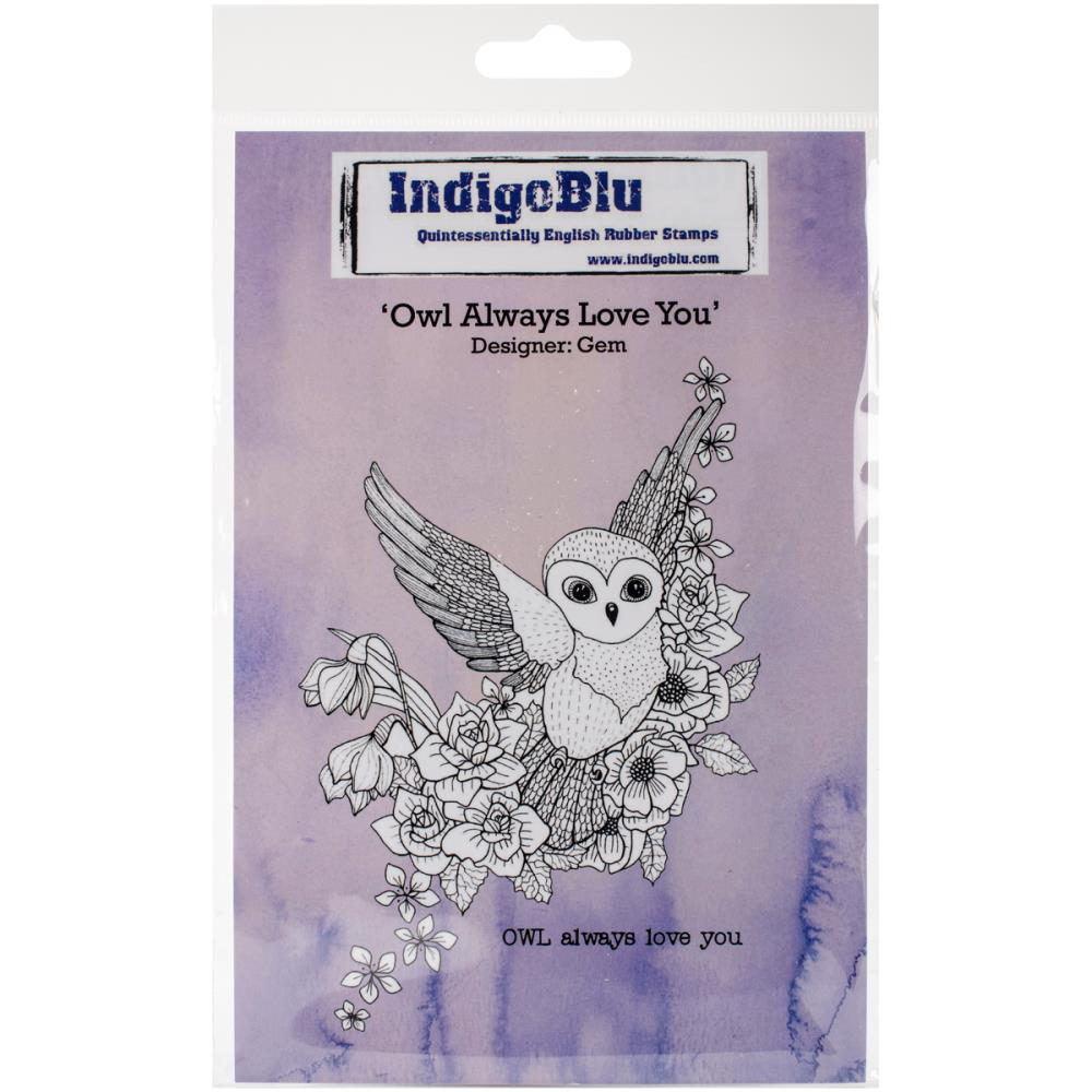 "IndigoBlu Cling Mounted Stamp 5""X4"" Owl Always Love You"