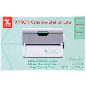 "PRE-ORDER Xyron Creative Station Lite 5"" Machine White/Silver"