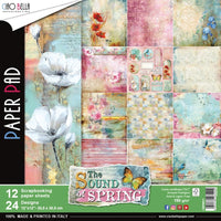 "Ciao Bella Double-Sided Paper Pack 90lb 12"" X 12"" 12/Pkg Sound of Spring"