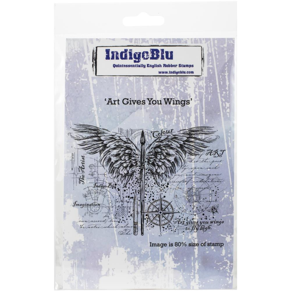 "IndigoBlu Cling Mounted Stamp 4.75""X7"" Art Gives You Wings"