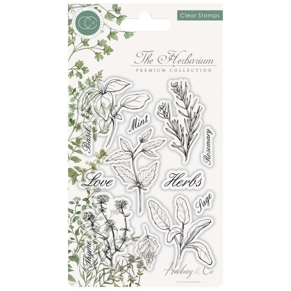 Craft Consortium A5 Clear Stamps Herbs