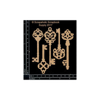 Scrapaholics Chipboard Die Cut Skeleton Keys