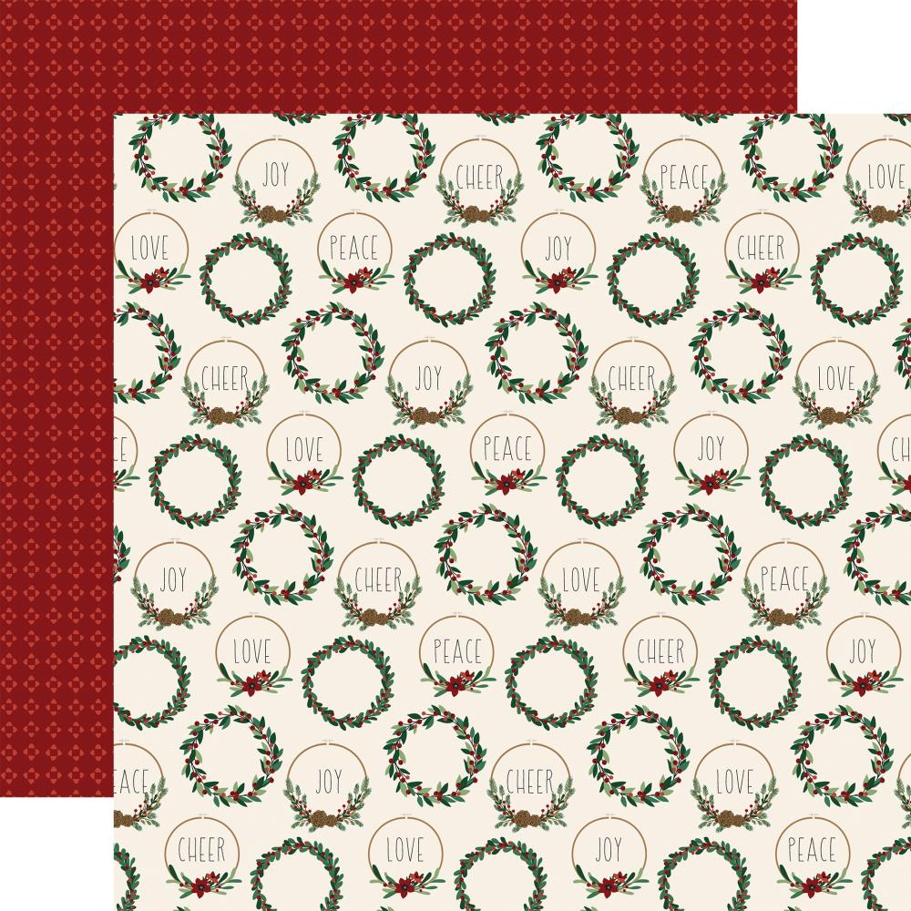 "Echo Park A Cozy Christmas Double-Sided Cardstock 12""X12"" Christmas Cheer"