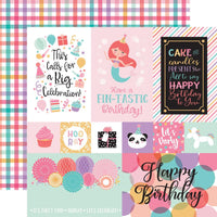 "Echo Park It's Your Birthday Girl Double-Sided Cardstock 12""X12"" Multi Journaling Cards"
