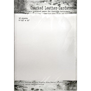 "Ranger Tim Holtz Distress Cracked Leather Cardstock, 10/Pkg 8.5"" x 11"""