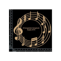 Scrapaholics Chipboard Die Cut Music Circle Frame