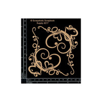 Scrapaholics Chipboard Die Cut Heart Corner Flourishes