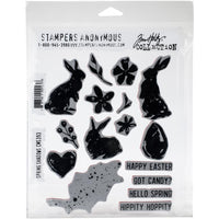 "Tim Holtz Cling Stamps 7""X8.5"" Spring Shadows"