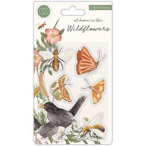 Craft Consortium A5 Clear Stamps At Home in the Wildflowers Bees and Butterflies