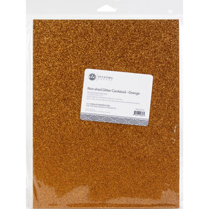 "ETC Papers Non-Shed Glitter Cardstock 8.5""X11"" 10/Pkg Orange"