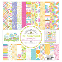 "Doodlebug Double-Sided Paper Pack 12""X12"" 12/Pkg Fairy Garden"