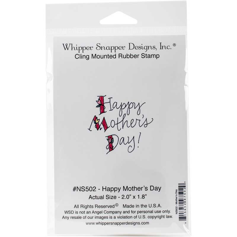 "Whipper Snapper Designs Happy Mother's Day Stamp 2.0"" x 1.8"" - Scrap of Paradise"