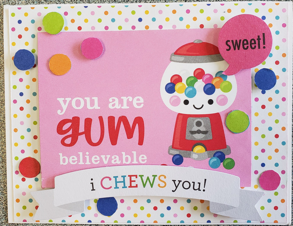 I Chews You Card Kit by Scrap of Paradise