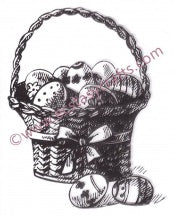 Nellies Clear Stamp Spring Easter Egg Basket