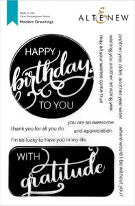 Altenew Modern Greetings Stamp Set
