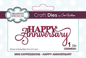 Creative Expressions Craft Dies By Sue Wilson Mini Expressions- Happy Anniversary
