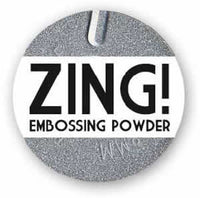 American Crafts Zing! Glitter Embossing Powder 1oz Silver (Metallic)