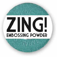 American Crafts Zing! Glitter Embossing Powder 1oz Teal (Metallic)