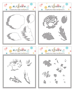 Altenew Tranquility Rose Simple Coloring Stencil Set