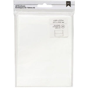 "American Crafts A2 Envelopes (4.375""X5.75"") 25/Pkg Ivory"
