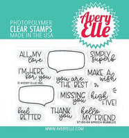 "Avery Elle Clear Stamp Set 4""X3"" Speech Bubbles"