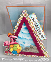 Whimsy Shaker Maker Pennant Flags Die Set