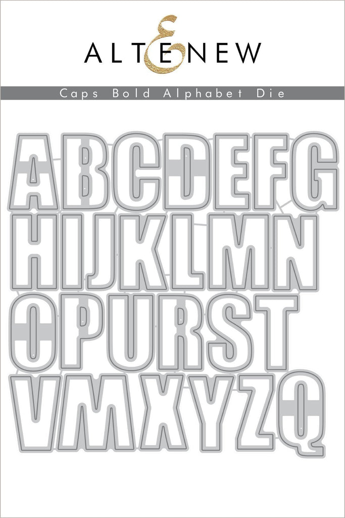 Altenew Bold CAPS Alphabet Die