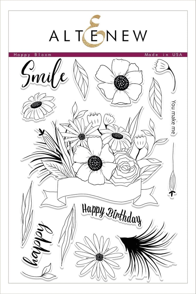 Altenew Happy Bloom Stamp