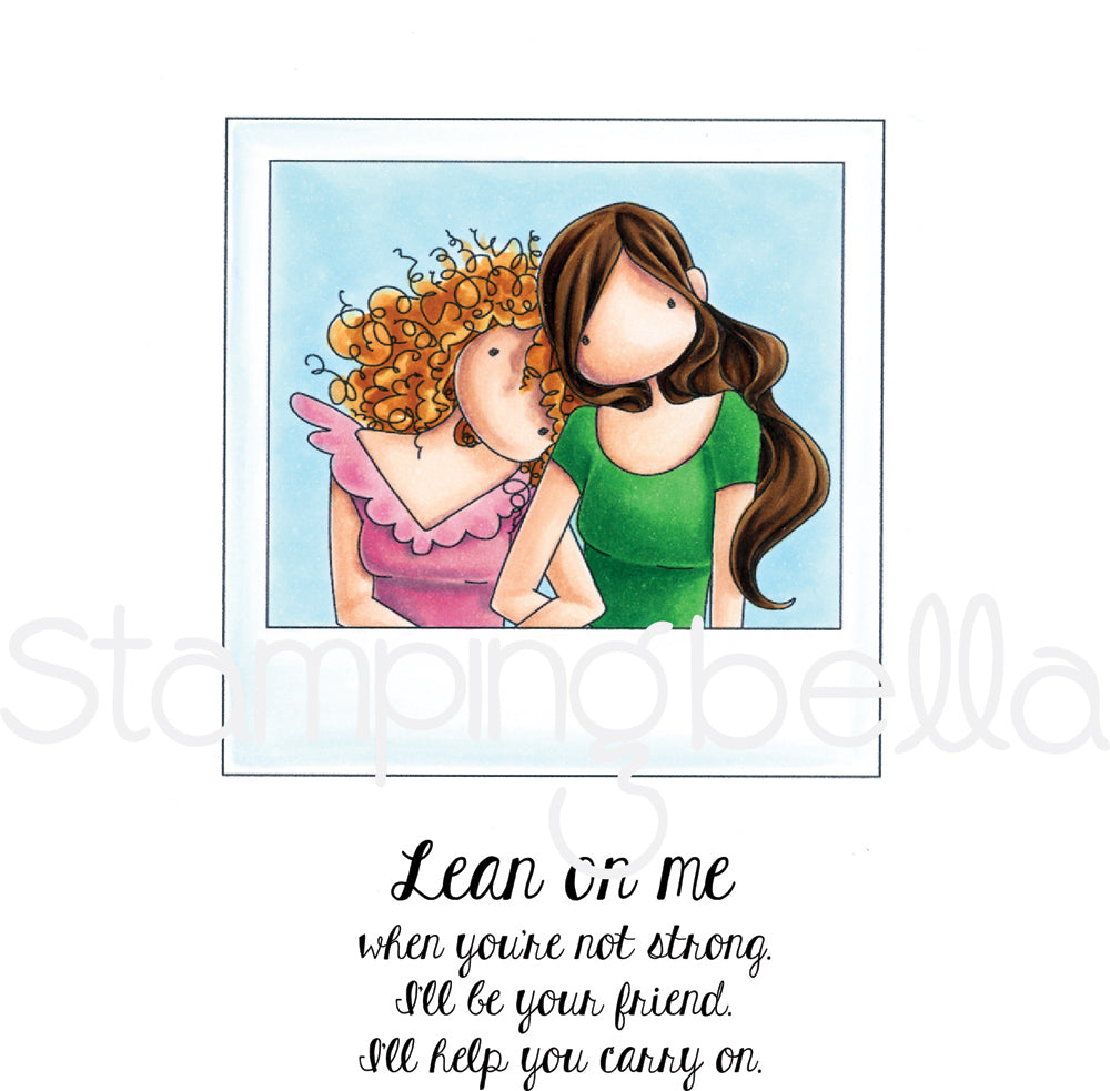 StampingBella Snapshots Lean On Me Stamp Set