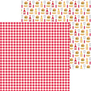 Doodlebug Bar-B-Cute 12 x 12 Paper Picnic Plaid