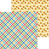 Doodlebug Bar-B-Cute 12 x 12 Paper Primary Plaid