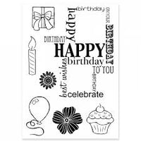 Woodware Clear Stamp Birthday Grid