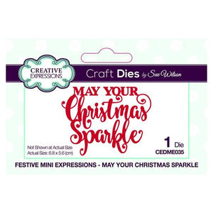 Creative Expressions Craft Dies Mini Expressions May Your Christmas Sparkle Die