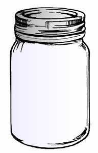 "Frog's Whiskers Ink Stamp - Mason Jar 1.75"" x 2.25"""