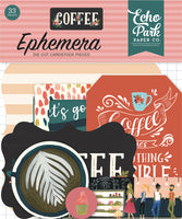 Echo Park Coffee  Ephemera Die Cuts