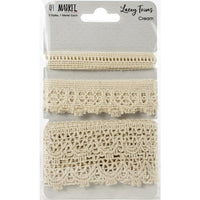 49 and Market Lacey Trim Ribbon Cream