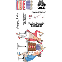 Art Impressions Chocolate Therapy Set Stamp