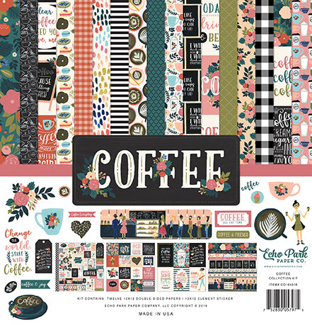 Echo Park Coffee Paper Pack 12 x 12