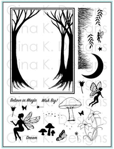 Gina K. Designs Clear Stamp, Enchanted Forest