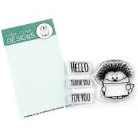 Hedgehog with Sign Gerda Steiner Designs Stamp