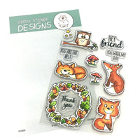 Foxes Gerda Steiner Designs Stamp