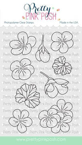 Pretty Pink Posh Clear Stamp, Geraniums