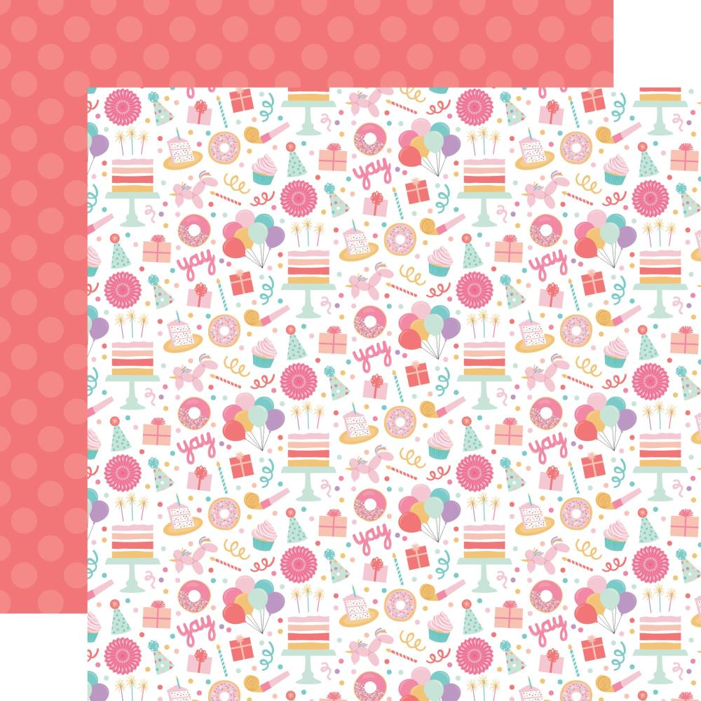 "Echo Park It's Your Birthday Girl Double-Sided Cardstock 12""X12"" Birthday Girl Fun"