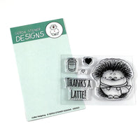 Coffee Hedgehog Gerda Steiner Designs Stamp